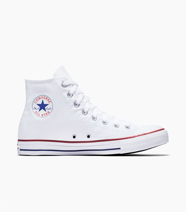 Affordable skinny jeans: Converse All Star High Top White Trainers