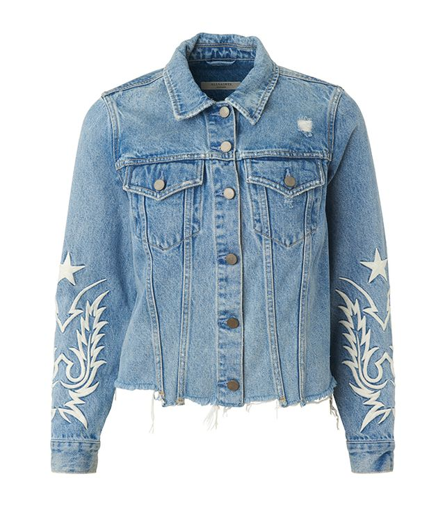 Summer Style: AllSaints Philly Embroidered Denim Jacket