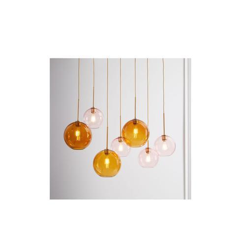 Sculptural Glass Globe 7-Light Chandelier