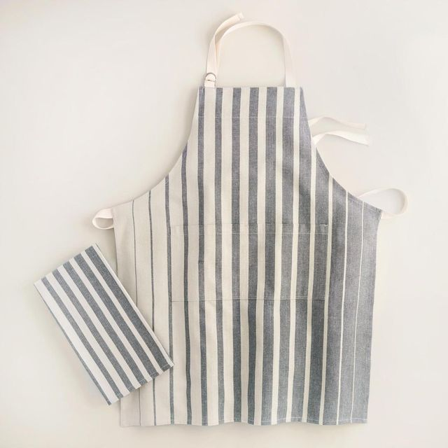 Gray Ombre Stripe Kitchen Linens Collection by World Market