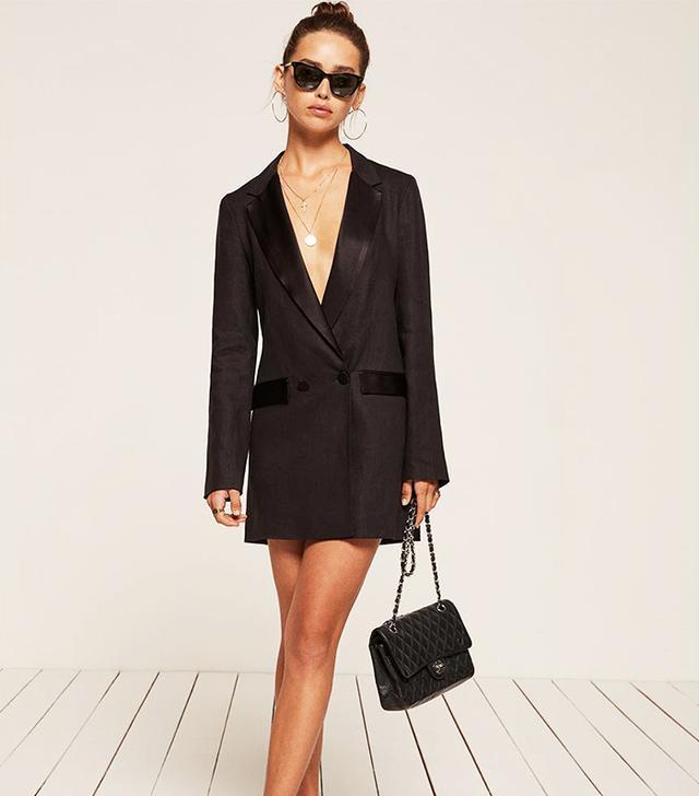 Linen Tuxedo Dress