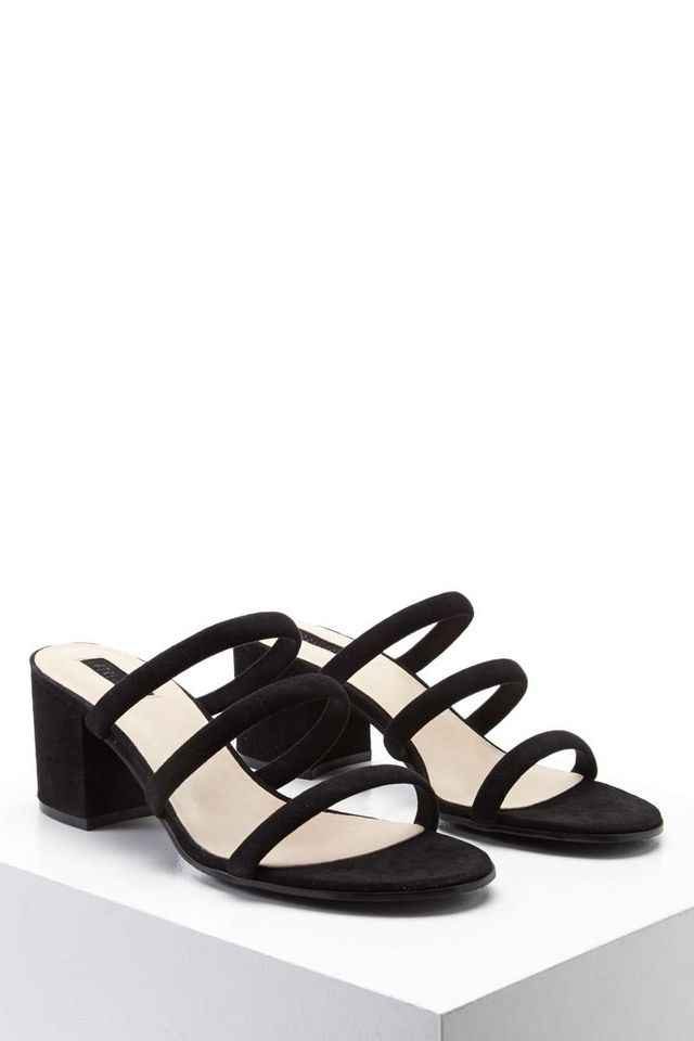 Strappy Faux Suede Mules
