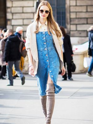 9 Chic Denim Dresses to Buy Now