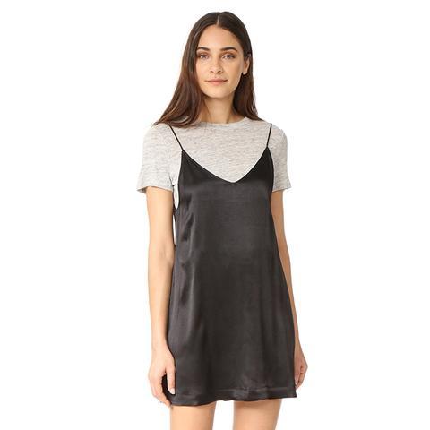 Satin Slip Dress Set