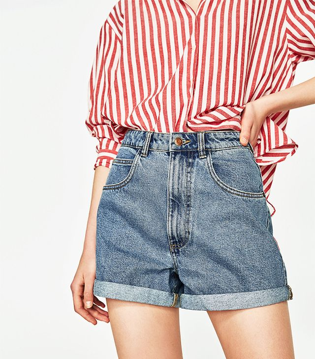 Zara Mom Fit Bermuda Shorts