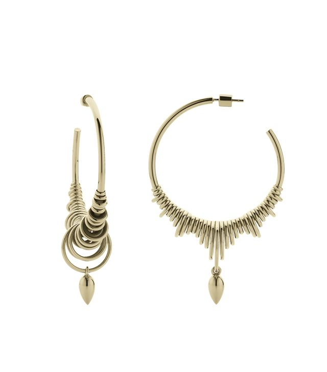 Meadowlark Jewellery Revival Hoop Charm Earrings Large