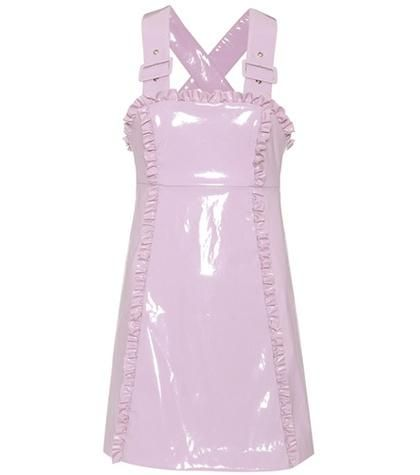 Apron sleeveless mini dress