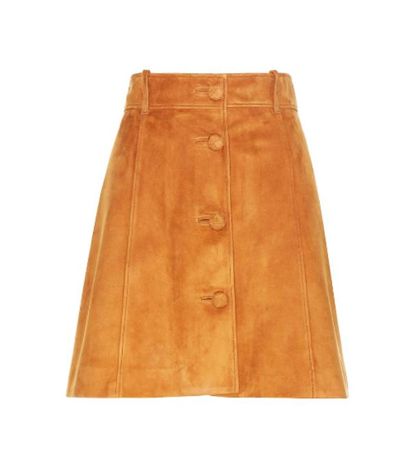 Outfits Bloggers are wearing now: Ganni suede skirt