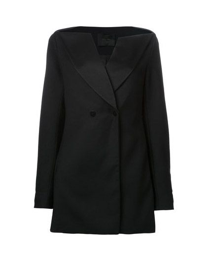 Horizontal Tuxedo dress