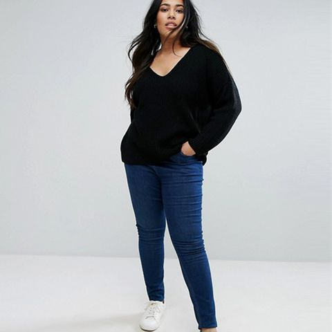 Ultimate Chunky Sweater With V Neck