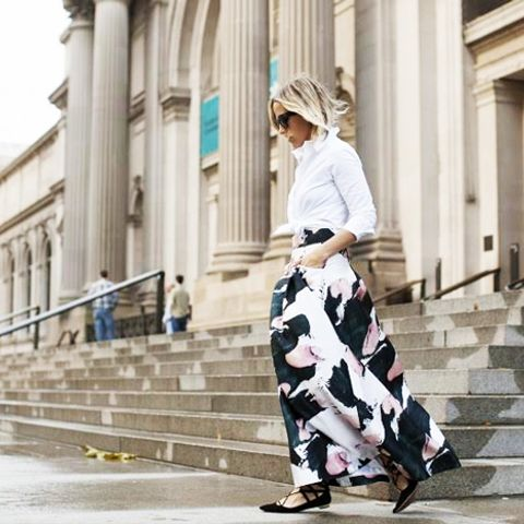 Maxi Skirts Can Be Hard to Wear, So These Girls Styled Them for You