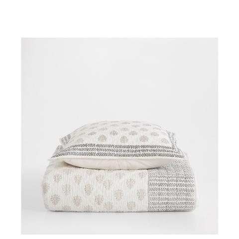 Mini Deisgn Printed Cotton Quilt and Cushion Cover