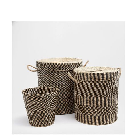 Two-Tone Clothes Basket