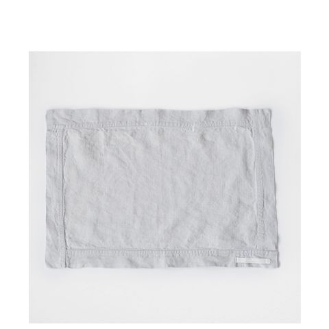 Cement-Colored Faded Linen Placemat