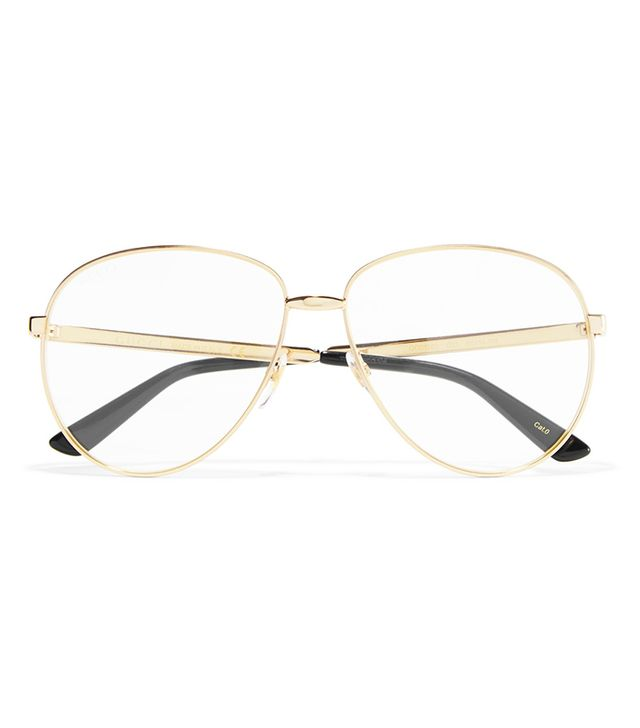 Gucci Aviator Glasses with Web