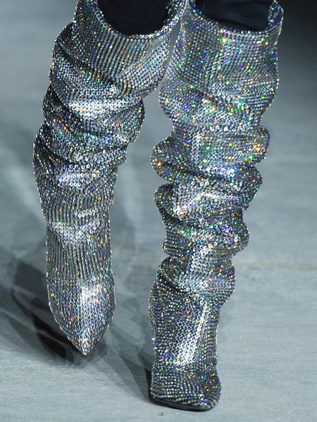 Best sparkly accessories: Saint Laurent crystal boots