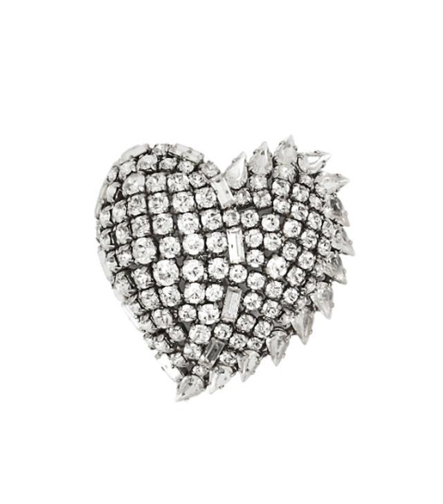 Saint Laurent Smoking Crystal-Embellished Brooch