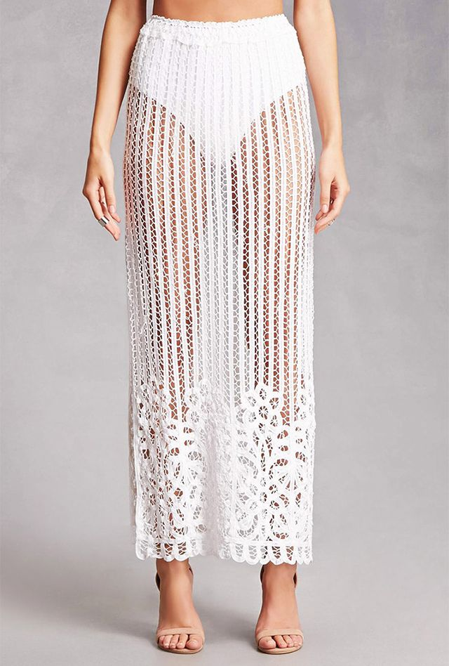 Honey Punch Crochet Maxi Skirt