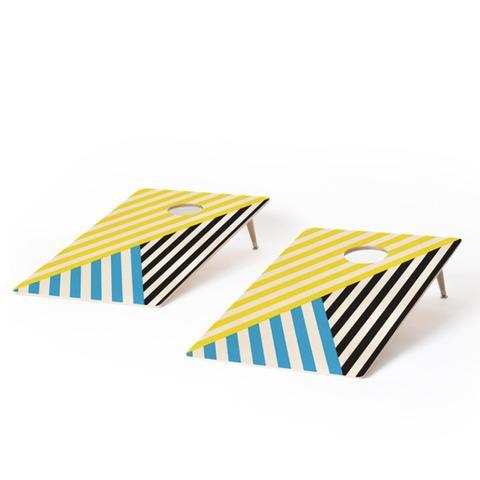 Wave Tricolor Cornhole Set