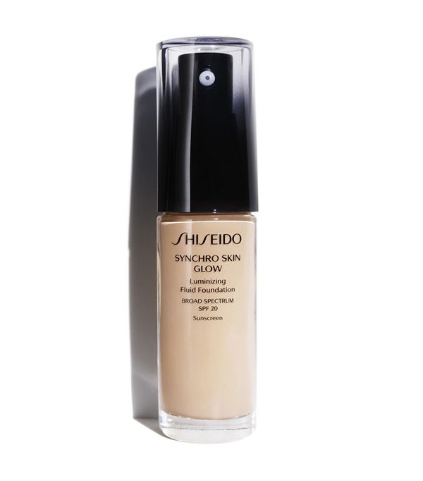 Best foundation: Shiseido Synchro Skin Glow Luminizing Fluid Foundation Broad Spectrum SPF 20