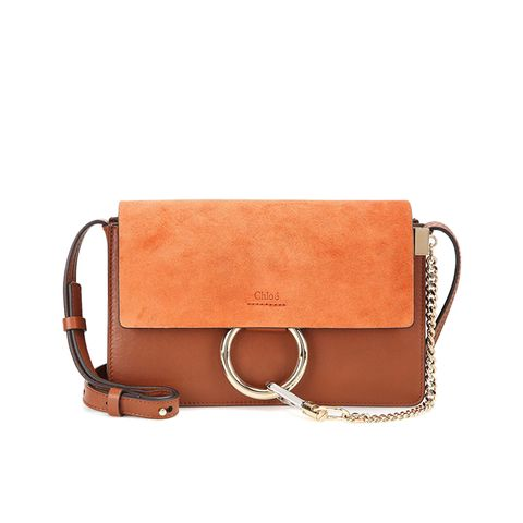 Faye Small Suede Leather Shoulder Bag