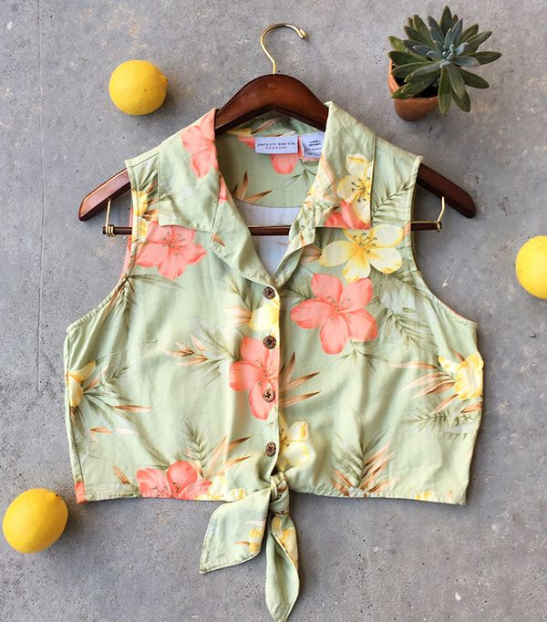 best vintage hawaiian cropped shirts