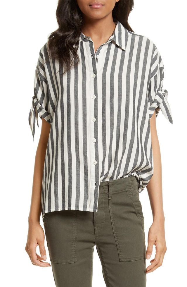 Women's The Great. The Tie Sleeve Shirt