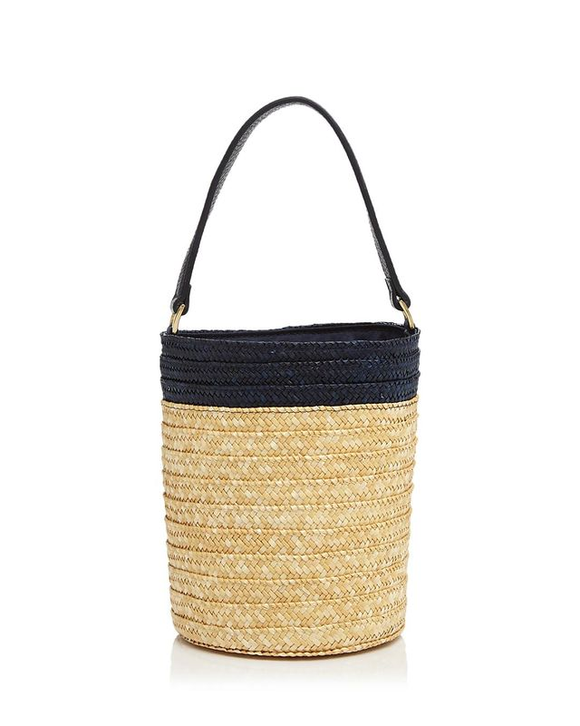 Small Straw Bucket Bag