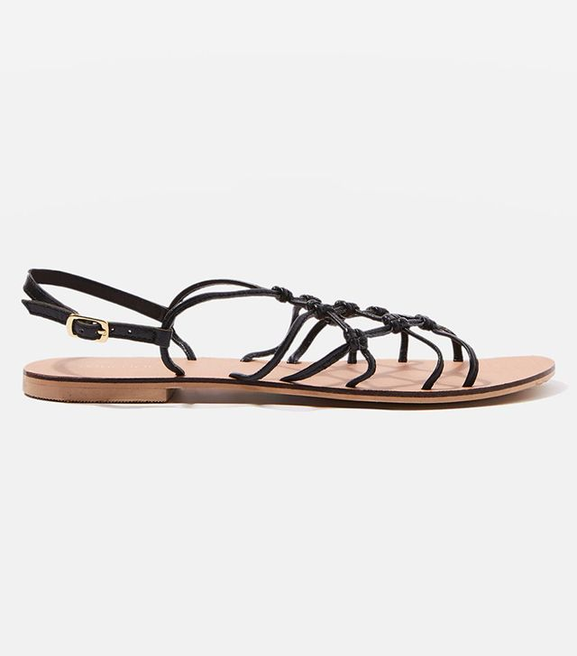 HELD UP Leather Knot Sandals