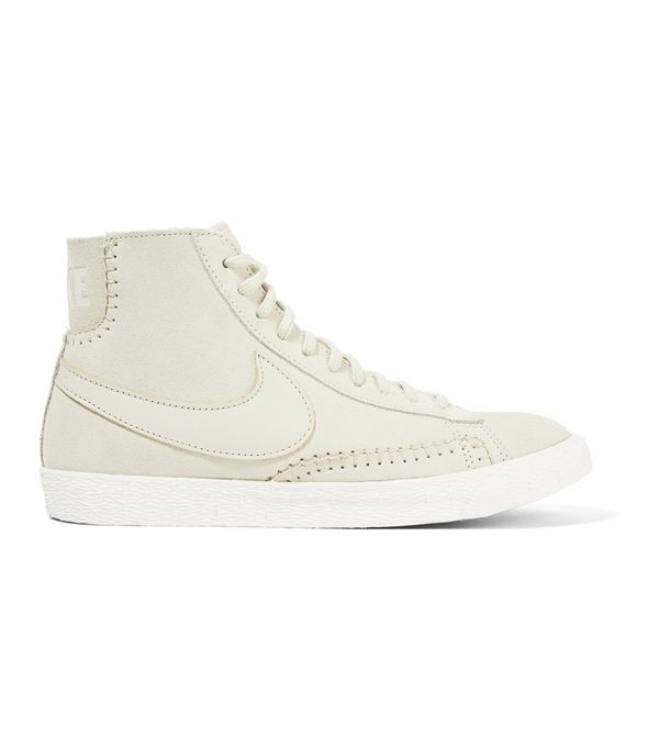 Suede trainers trend: Nike Blazer Mid Suede and Shearling High-Top Sneakers