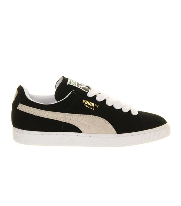 Suede trainers trend: Puma Suede Classic Trainers In Black