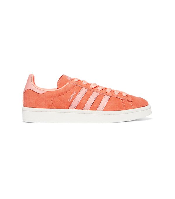 Suede trainers trend: Adidas Campus Suede Sneakers