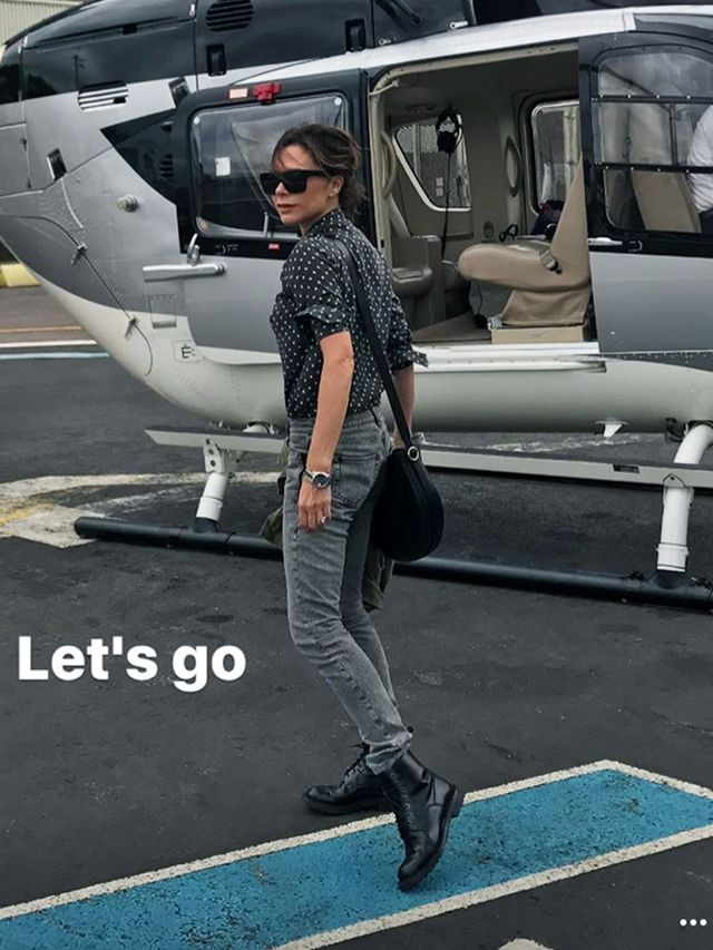 Victoria Beckham Glastonbury Outfit 2017: Ready to fly in a helicopter