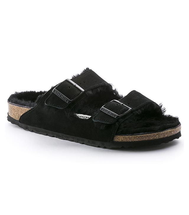 Birkenstock Arizona Shearling Sandals in Black