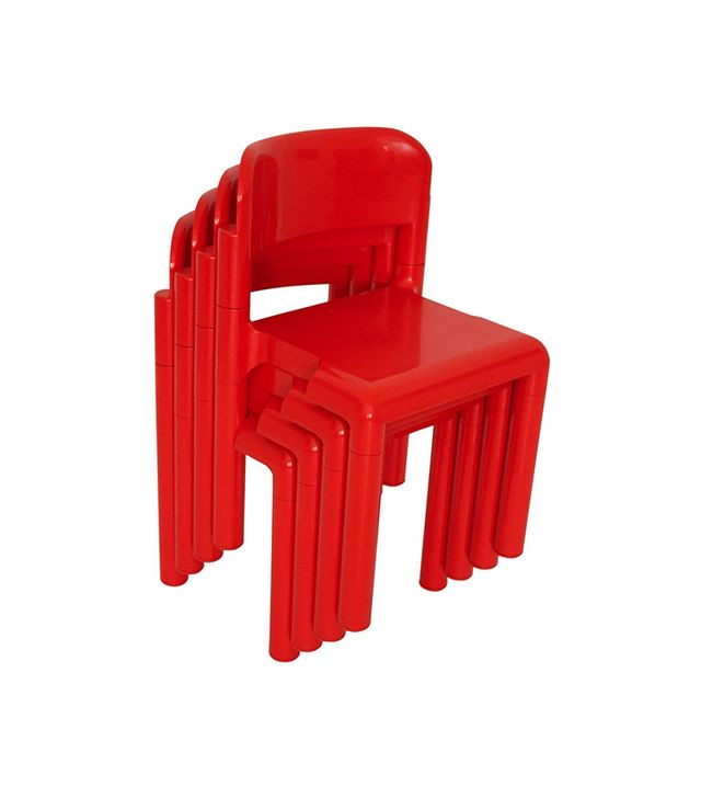 Eero Aarnio Red Space Age Set of Four Stacked Chairs