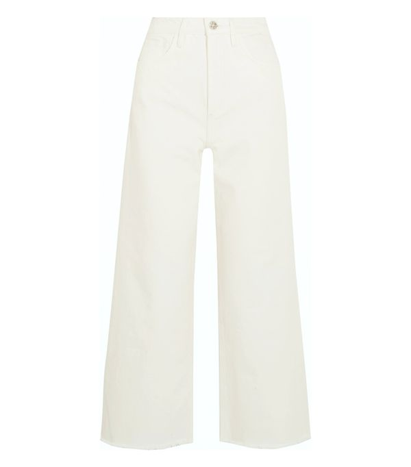 White jeans trend: M.i.h Jeans Caron High-Rise Wide-Leg Jeans
