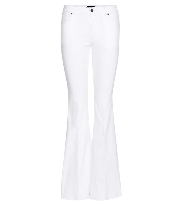 White jeans trend: Tom Ford Flared Jeans