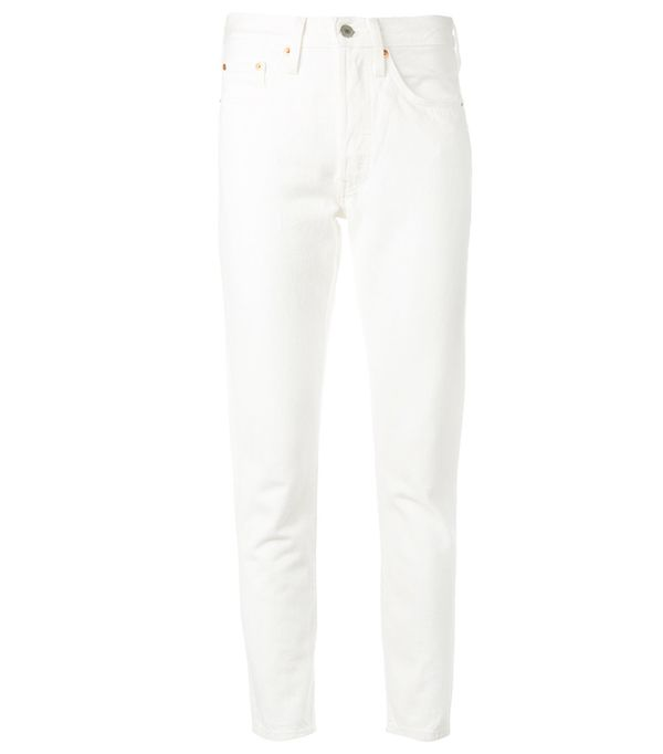 White jeans trend: Levi's Straight Jeans