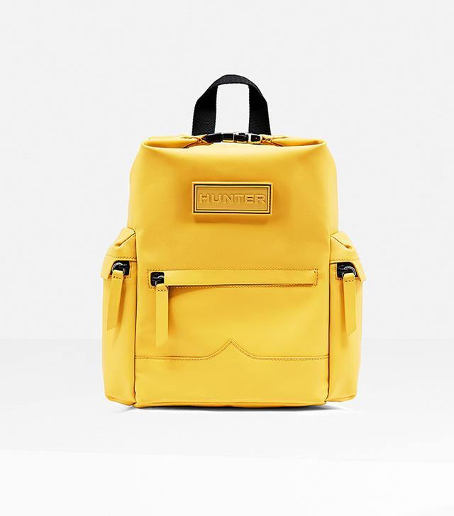 Hunter Original Mini Top Clip Backpack in Rubberized Leather