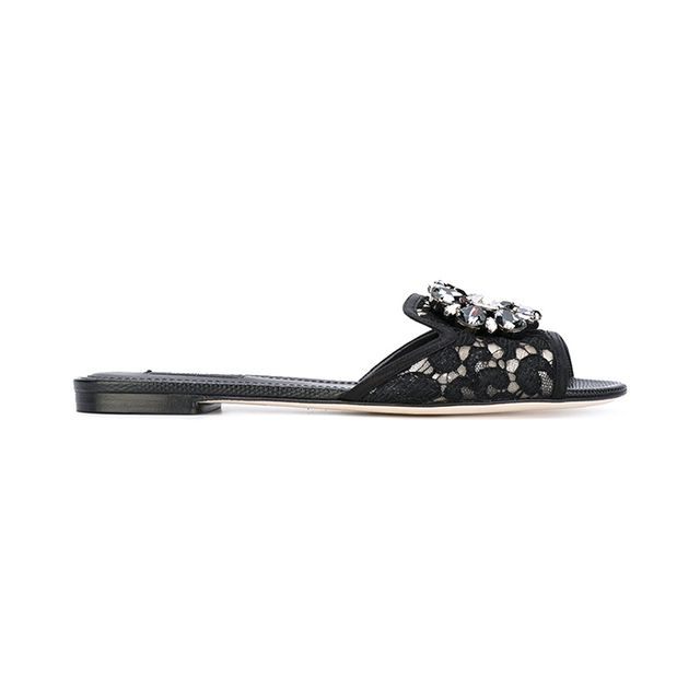 Bianca embellished flat sandals