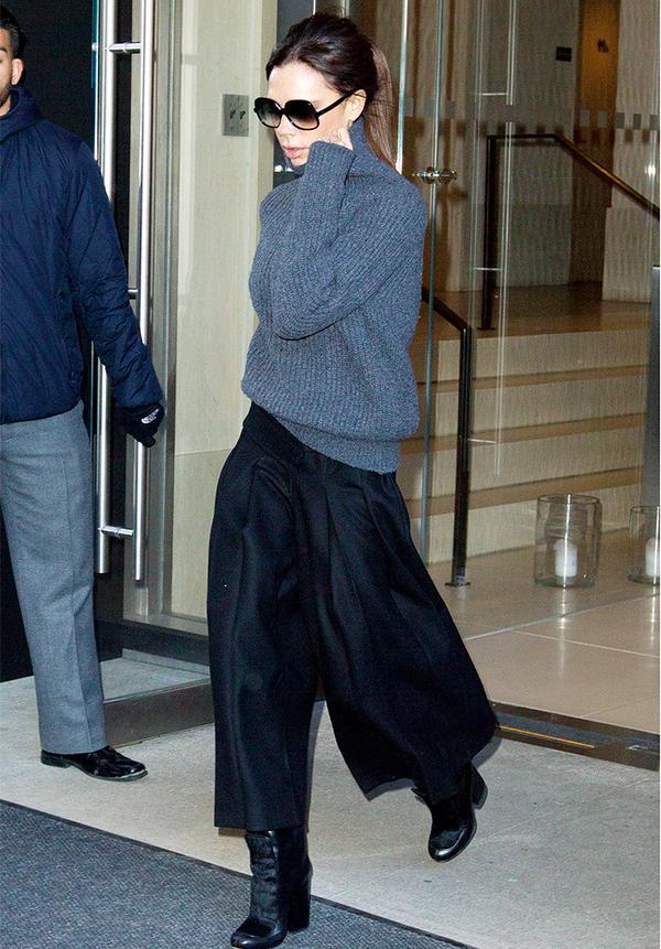 Victoria Beckham style: Roll-necks Need Ponytails