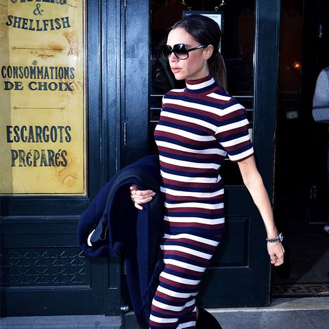 Victoria Beckham style: Double Prints Are Flattering in Pairs