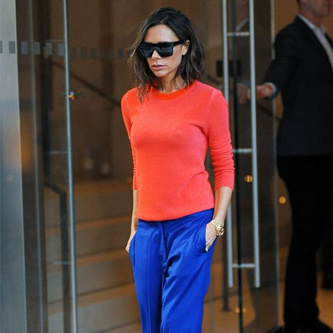 Victoria Beckham style: Colour-Blocking Needs to Be Minimalist