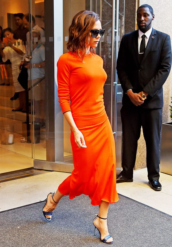 Victoria Beckham style: It's All About a Flash of Ankle and Wrist