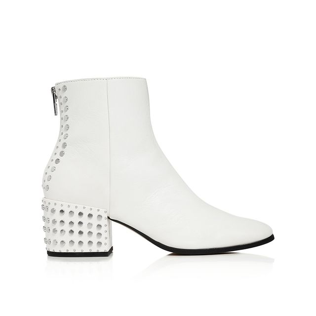 Mazey Studded Leather Booties