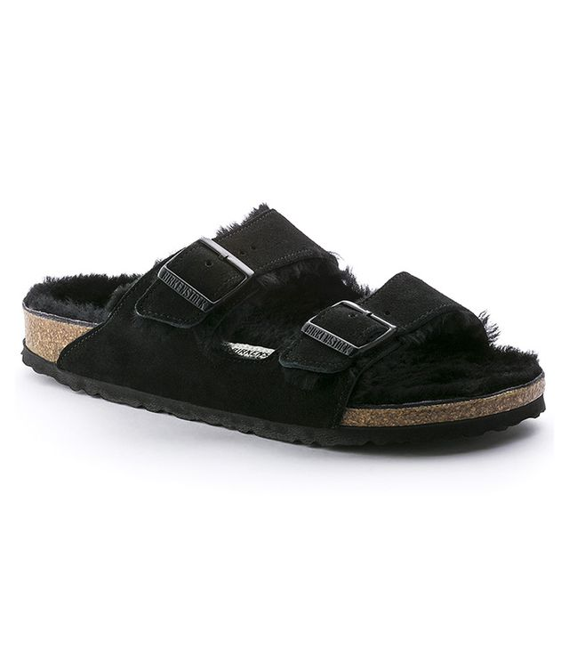 Birkenstock Arizona Shearling Sandals in Black