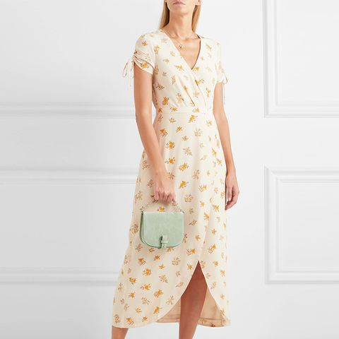Magdalena Wrap-Effect Floral-Print Silk Crepe de Chine Dress