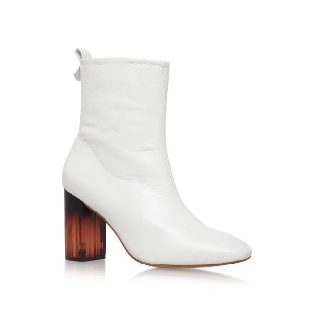 Kurt Geiger Strut Ankle Boots in White