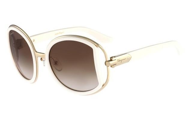 Ferragamo White Sunglasses