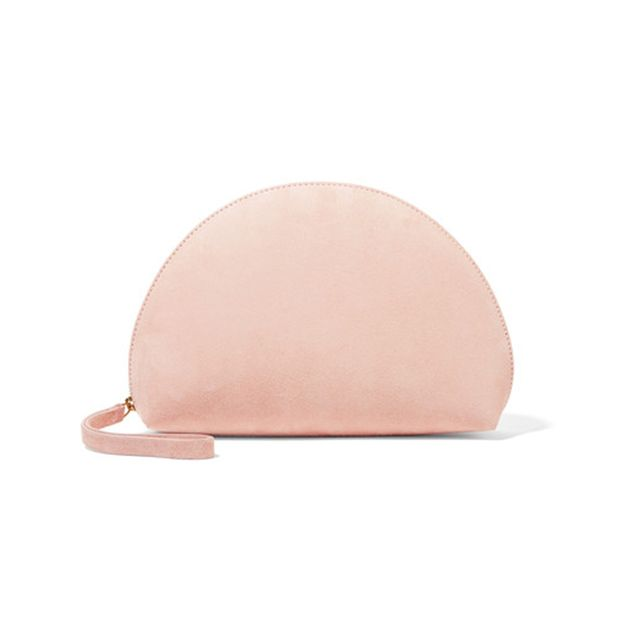 Mansur Gavriel Moon Mini Suede Clutch